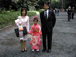 Family going to shrine