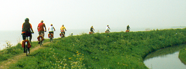 Dike trail at Marken, Holland
