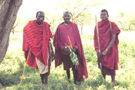 Maasai near Ngorongoro Crater
