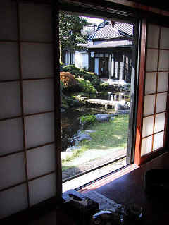 Garden view from ryokan bedroom