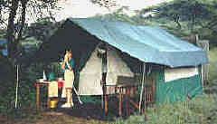 Classic tent in the Serengeti
