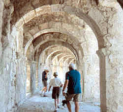 Vaulted passages at Aspendos theater